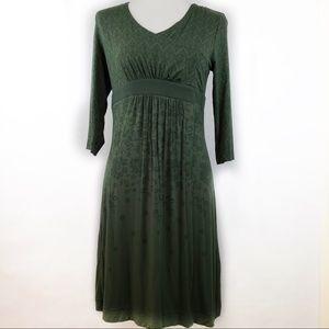 ATHLETA | Green Karmandy Stretch Wrap Midi Dress